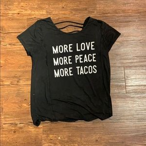 More Love. More Peace. More Tacos. T-shirt - M